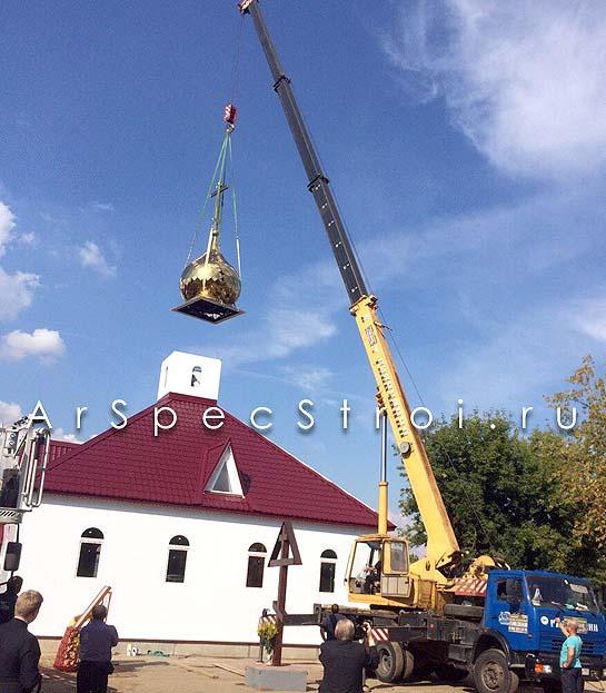 Аренда спецтехники в АрСпецСтрой, заказали для строительтво храма