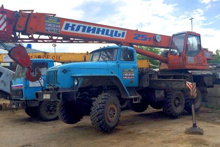 Аренда автокрана Клинцы 25 тонн