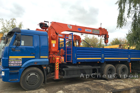 Аренда Кран-манипулятор КАМАЗ 10 тонн