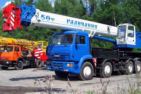 Услуга аренды автокрана Галичанин 50 тонн. Скидки
