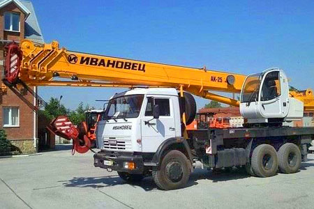 Ивановец 25 тонн, стрела 28 м