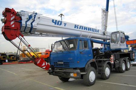 Аренда автокрана Клинцы 40 тонн